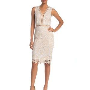Love By Design Dresses - Love by Design Lace & lattice midi dress XL white